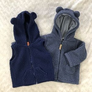 Carter's Sherpa Vest & Jacket Bundle 6 Months